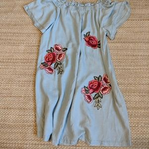 A.n.a. Off-the-Shoulder Embroidered Floral Dress